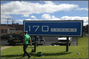 Signage for 170 Tapley
