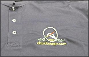 Shirt with custom embroidery logo