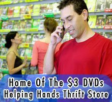 Appliances - Montgomery, AL - Helping Hands Thrift Store - Man buying DVD