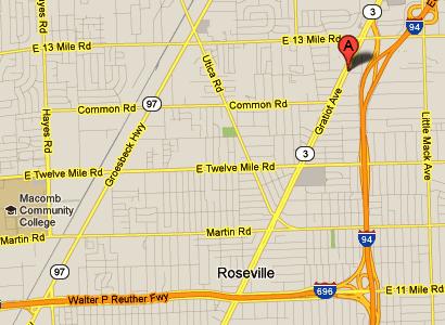map - 30520 Gratiot Ave., Roseville, MI 48066-1728