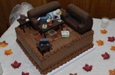 Sleeping man in a sala theme cake