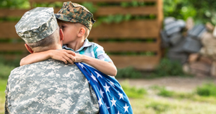 Military guy with kid