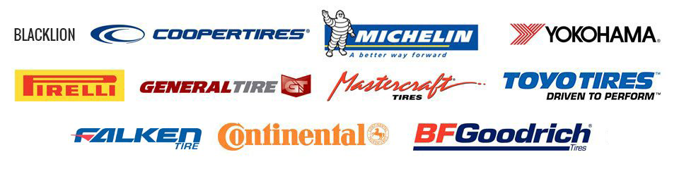 Blacklion | Cooper | Michelin | Yokohama | Pirelli | General| Mastercraft | Toyo | Falken | Continental | BF Goodrich | Black line