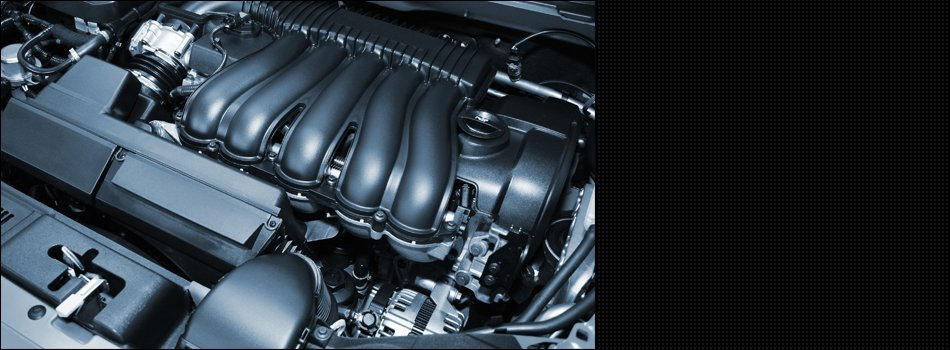 Zoom in view of a car engine