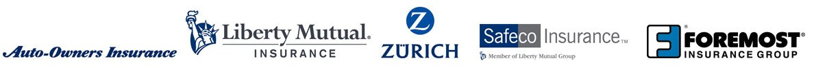 Auto-owners Insurance, Liberty Mutual, Zurich, Safeco Insurance, Foremost
