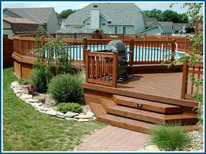 wood deck - H & B Contracting