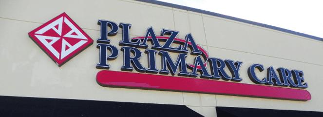 Plaza Primary Care Sign