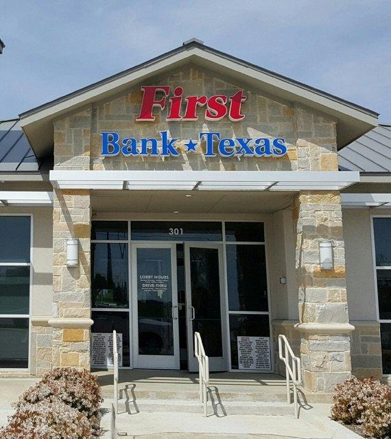 First Bank Texas Sign