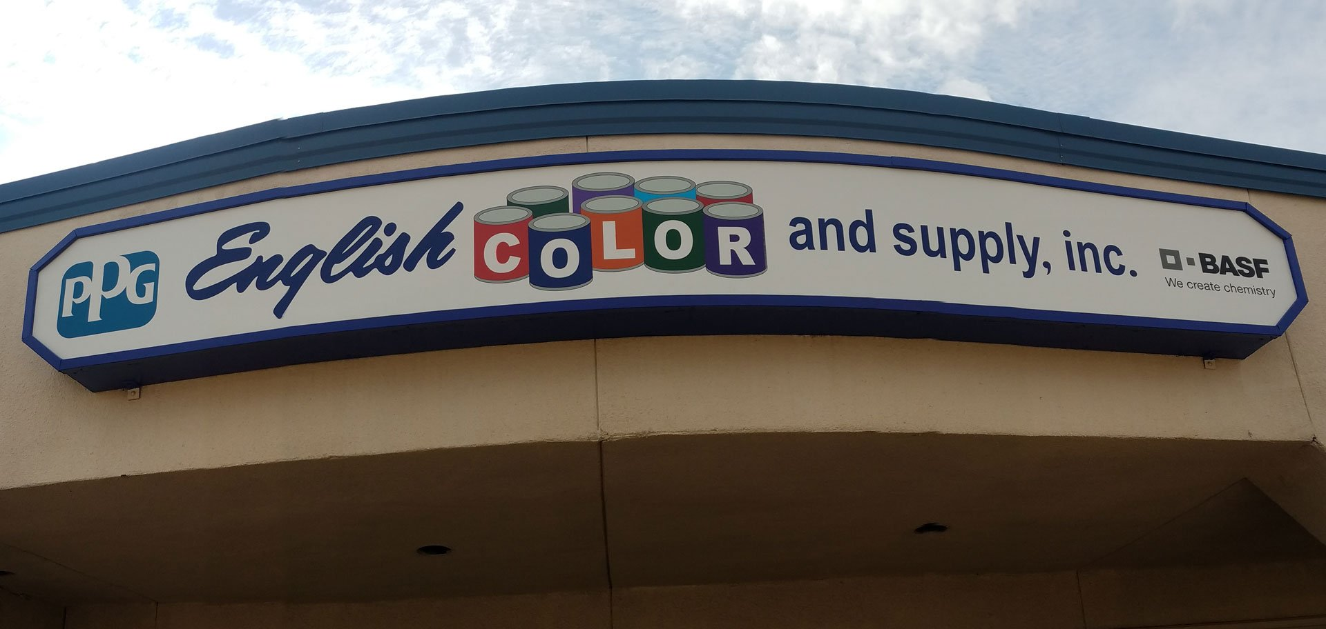 Eglish color and Supply Sign