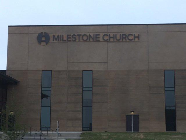 Milestone Church Sign