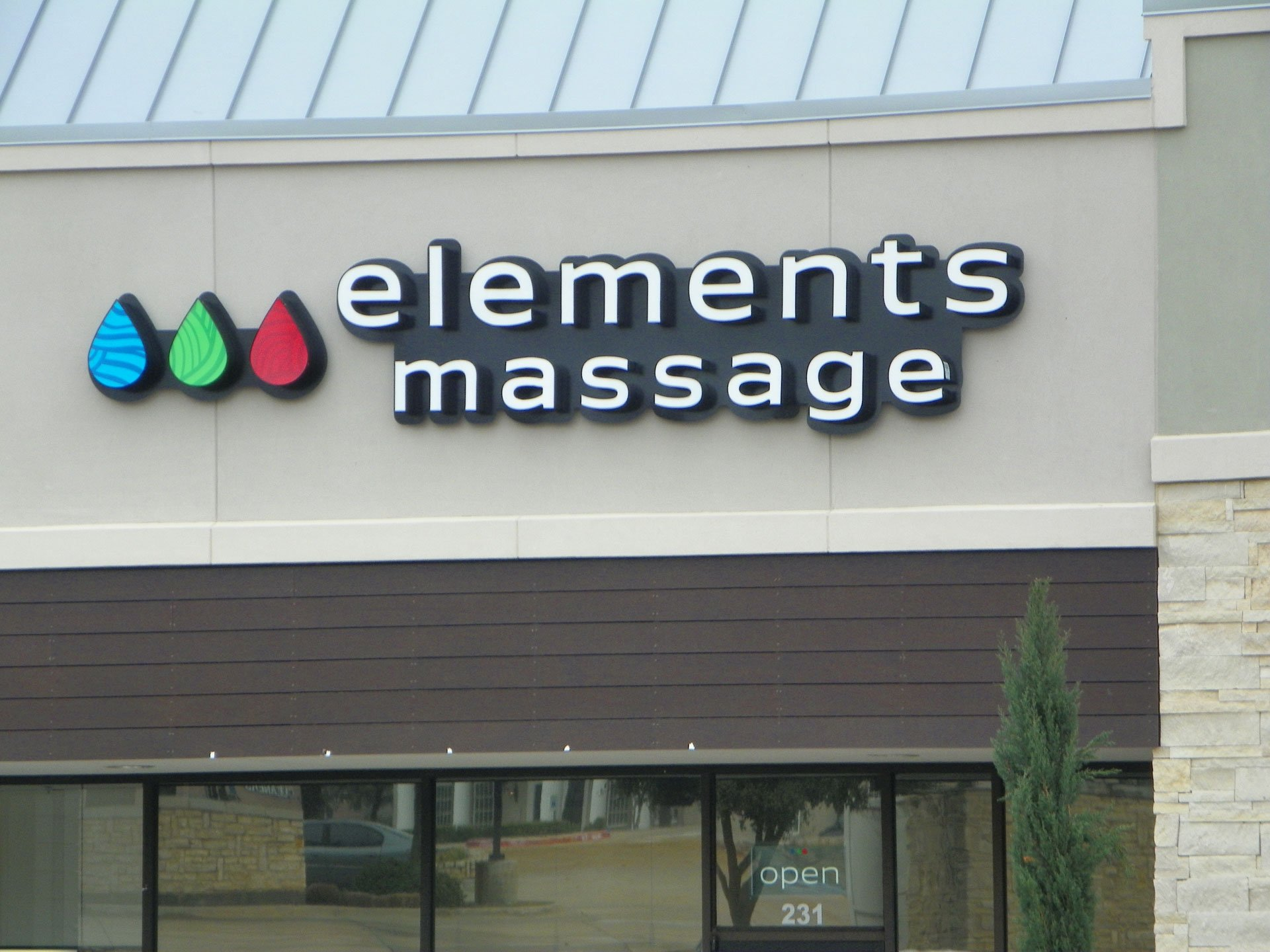 Elements Massage Sign