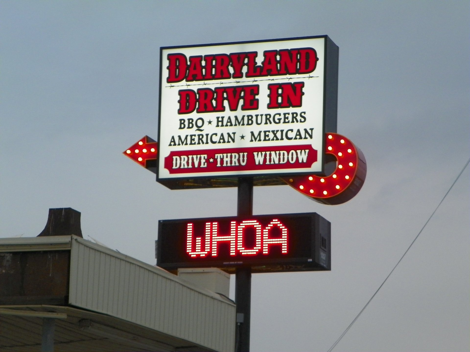 dairyland drive in sign