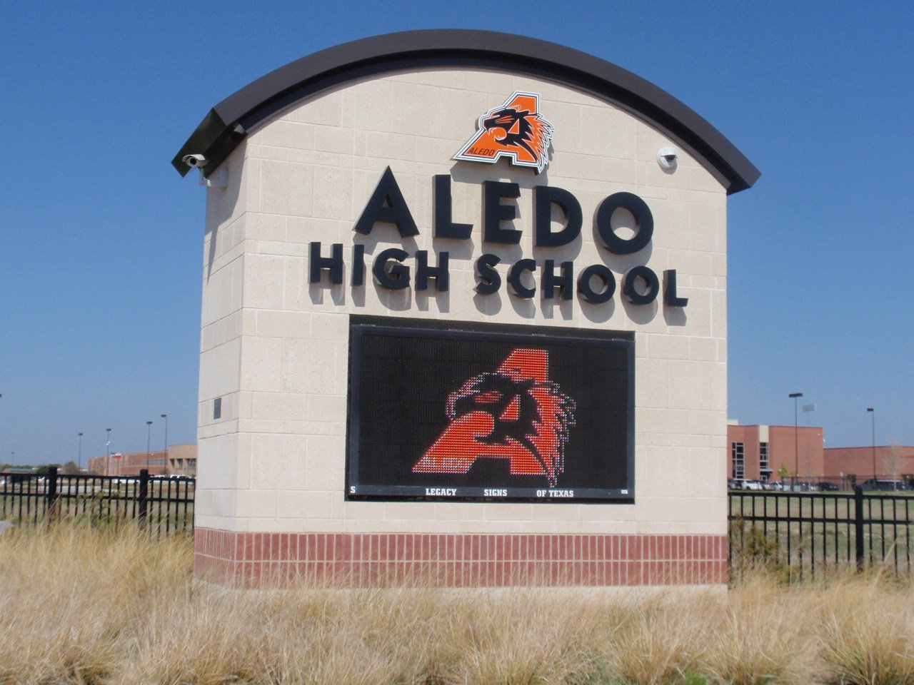 Aledo High School Sign