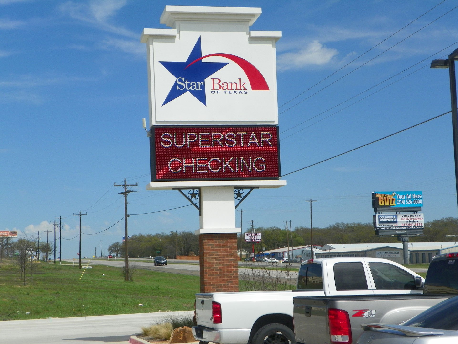 Star bank sign