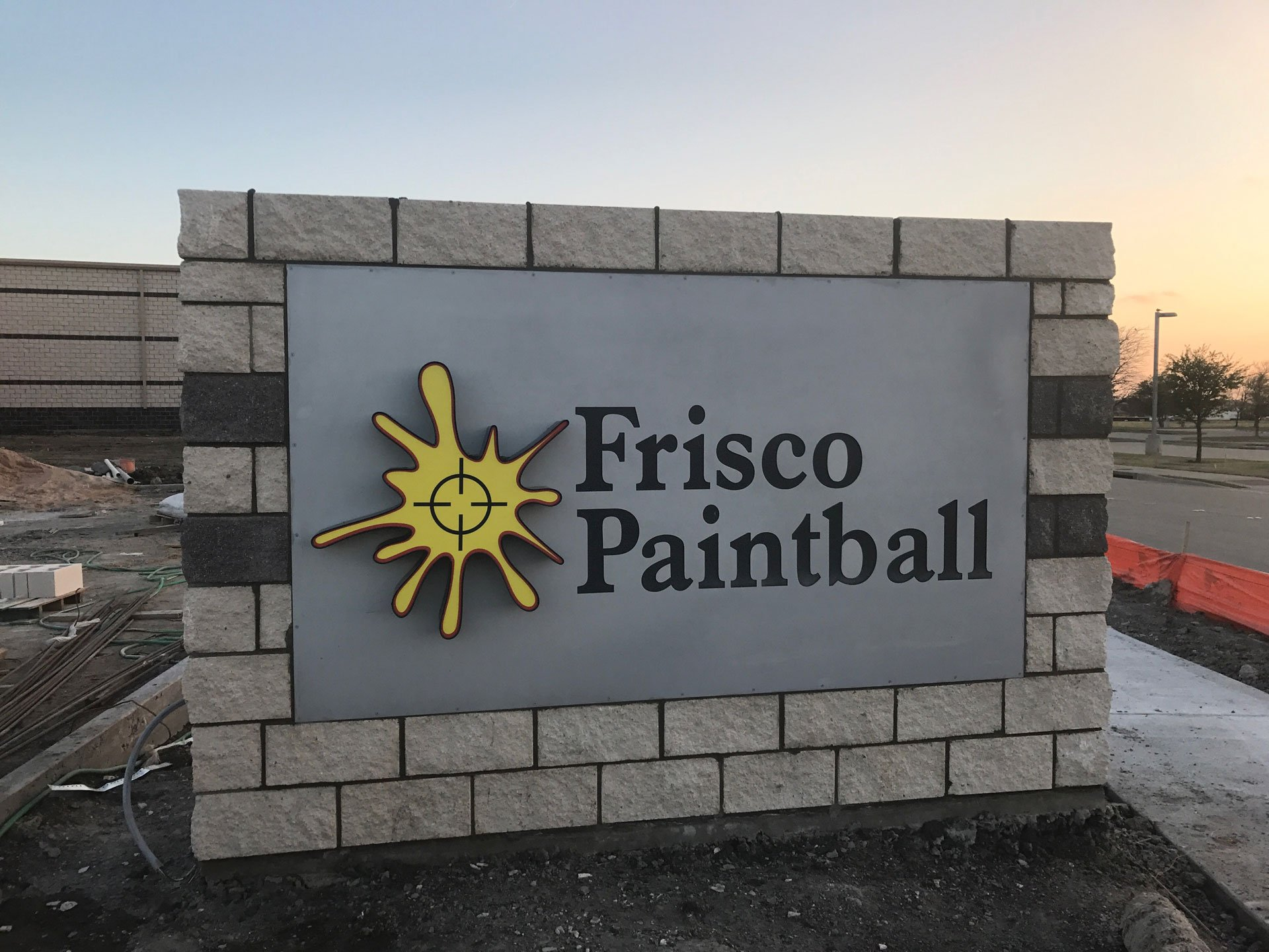 Frisco Paintball Sign