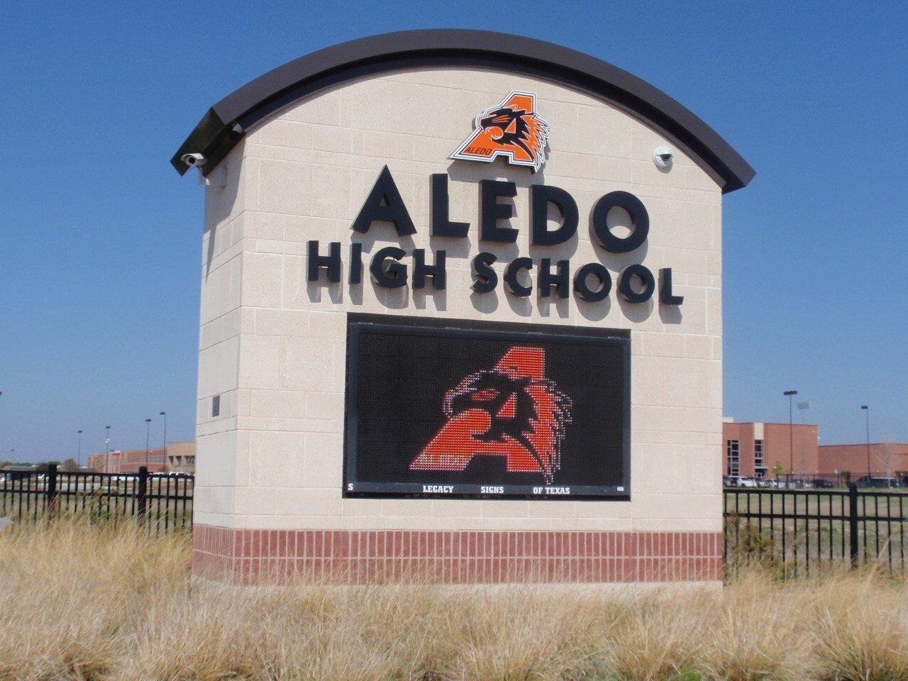 aledo High School Sign