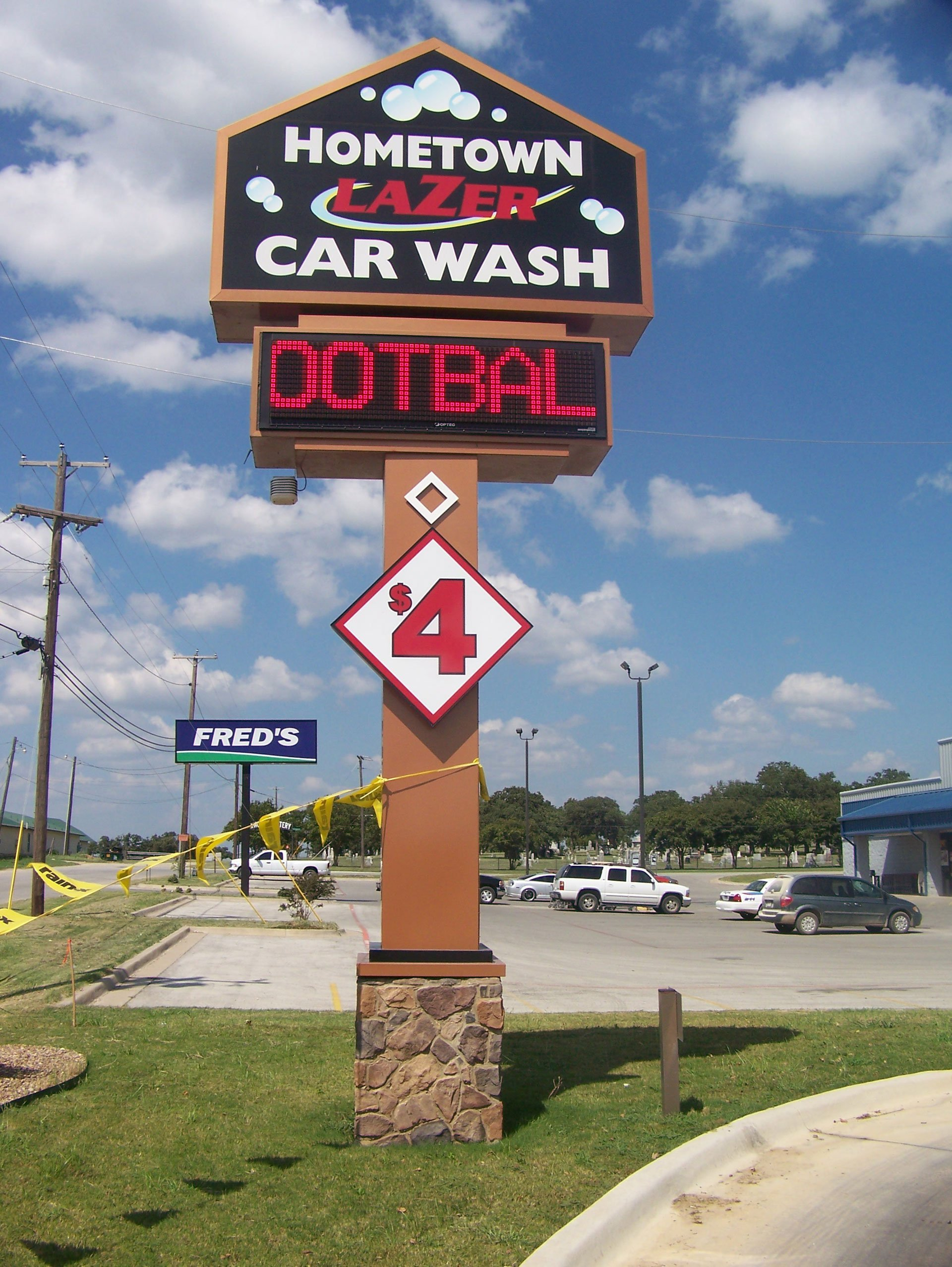 Hometown Carwash Sign