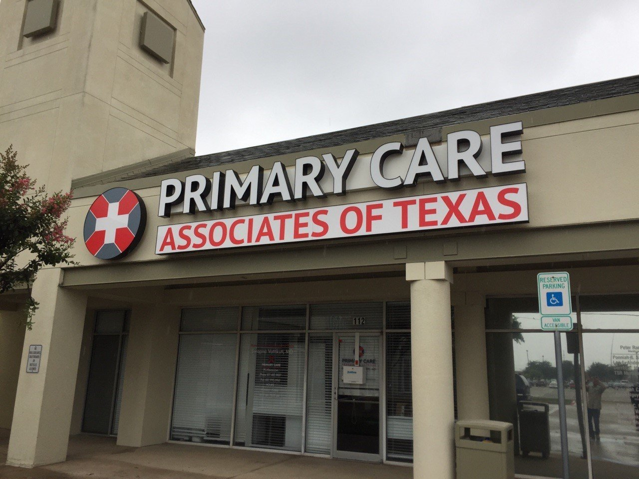 Primary care of Texas sign
