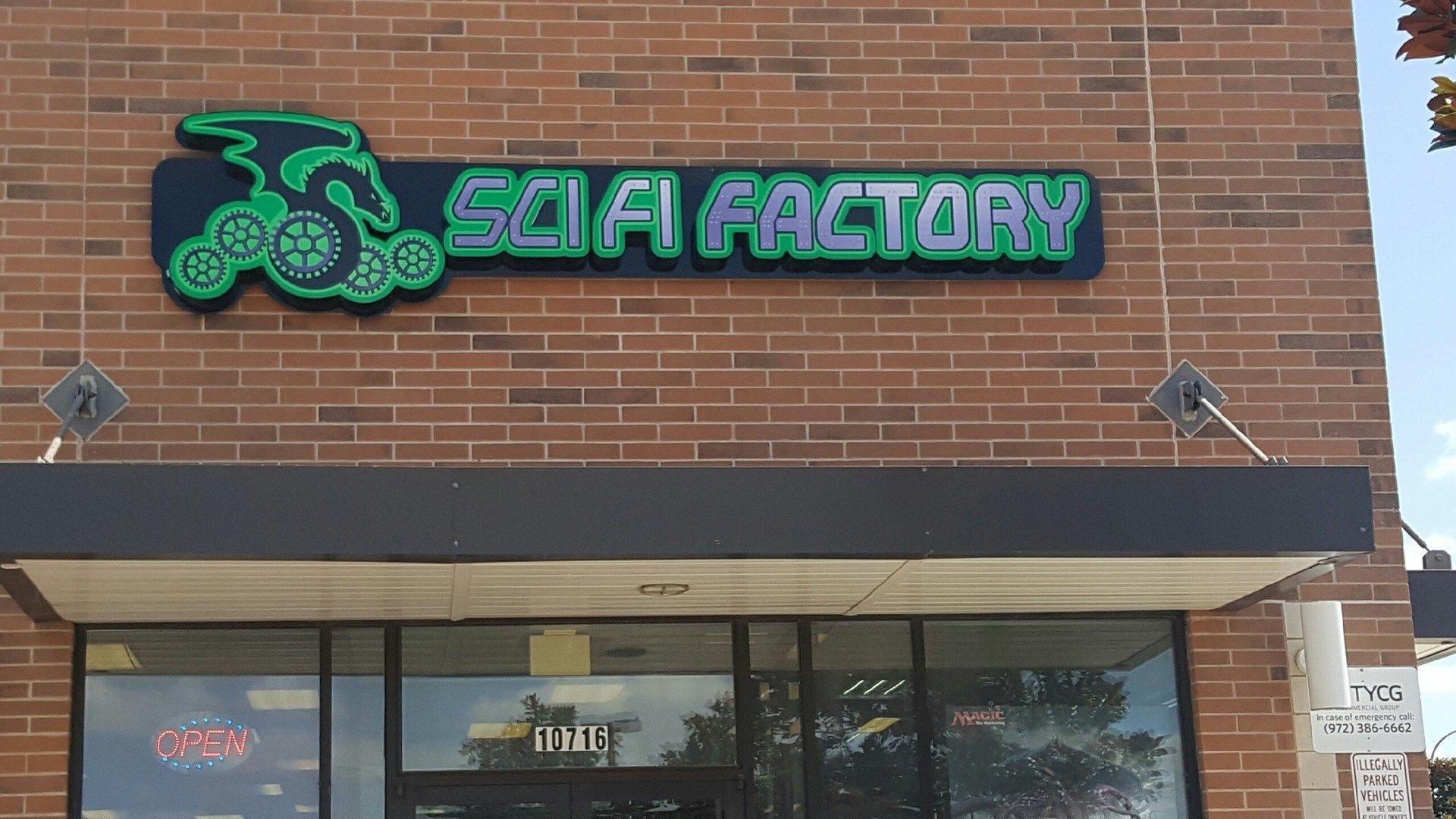 Sci-fi Factory Sign
