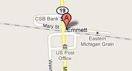 Greenia's Service Center, M-19 & M21 At 4 Way Stop Emmett, MI 48022