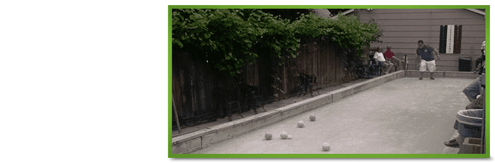 Bocce ball court | Des Moines, IA | Tumea & Sons Restaurant | 515-282-7976
