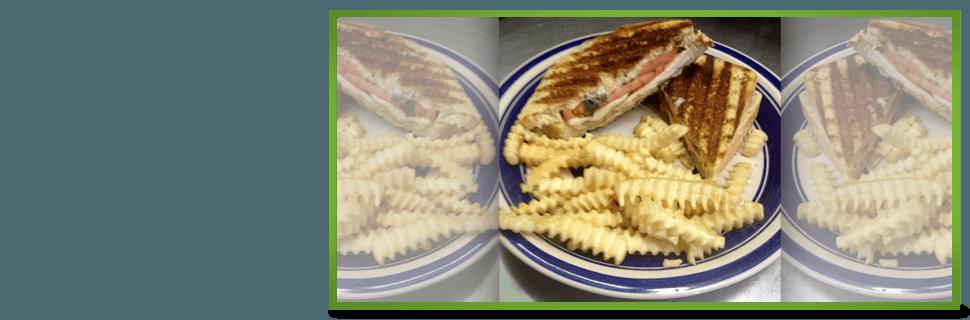 Chicken basil & tomato Panini | Des Moines, IA | Tumea & Sons Restaurant | 515-282-7976