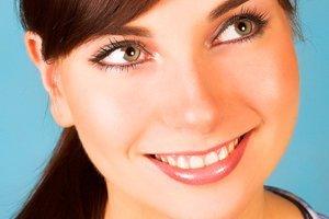Woman with teeth