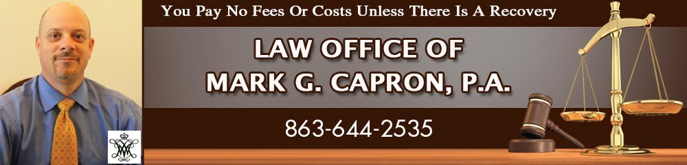 Attorney At Law - Lakeland, FL - Law Office Of Mark G. Capron, P.A.