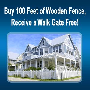 Picket Fence - Covington, GA - Steve Long Fence LLC - white fence - Buy 100 Feet of Wooden Fence, Receive a Walk Gate Free!