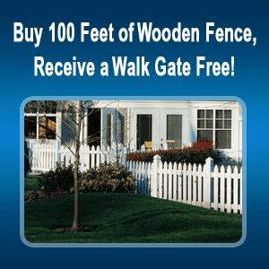 Garden Fence - Covington, GA - Steve Long Fence LLC - garden fence - Buy 100 Feet of Wooden Fence, Receive a Walk Gate Free!
