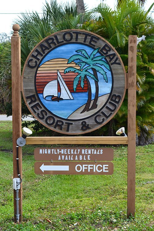 Charlotte Bay Resort and Club - Sign board