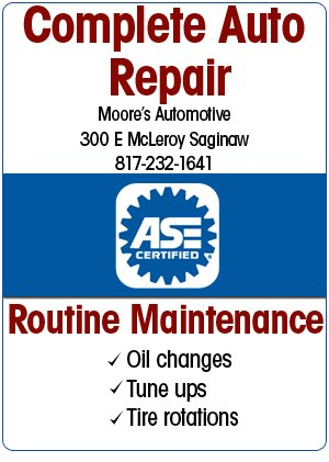 Auto Maintenance - Saginaw, TX - Moore's Automotive