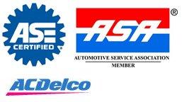 ASE Certified, ASA, AC Delco Rep