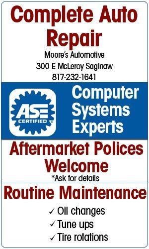 Auto Shop - Saginaw, TX - Moore's Automotive