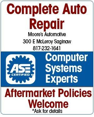 Auto Repairs - Saginaw, TX - Moore's Automotive