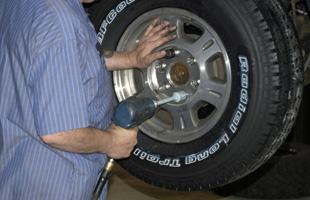 Man changing tires