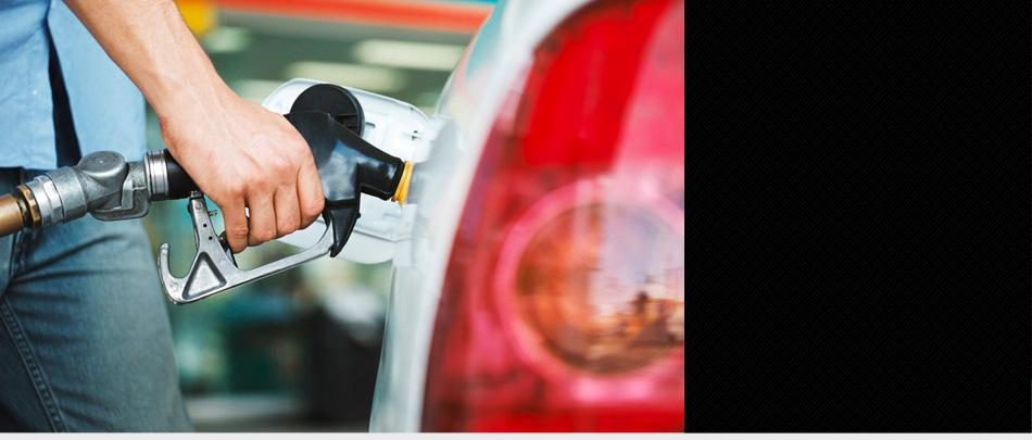 Man filling up gas