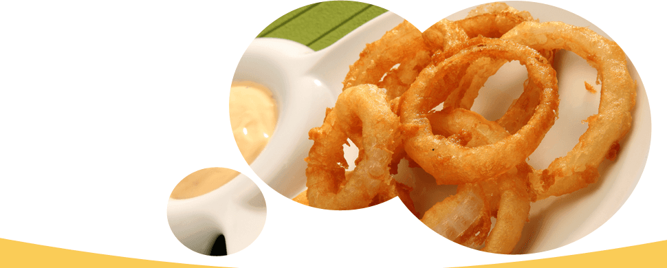 Onion rings in plate