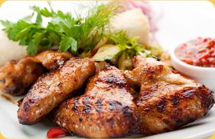 Chicken tender on plate