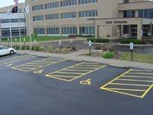 Parking Area - Mattoon, IL - Nichols Parking Lot Striping Services