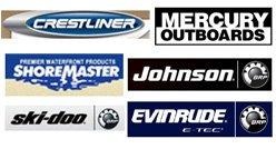 Crestliner, Mercury Outboards, ShoreMaster, Johnson, Ski-Doo, Evinrude