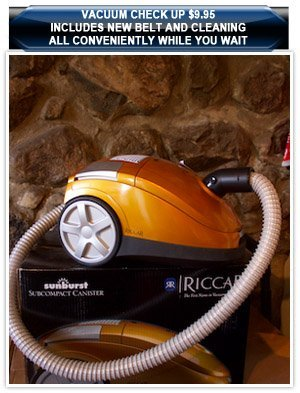 Handheld Vacuum Cleaner - Milford, MI - Mill Valley Vacuum & Sewing - vacuum -  Vacuum Check up $9.95  Includes New Belt and Cleaning All conveniently while you wait