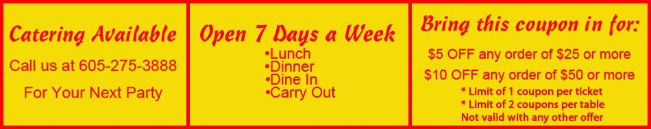 Lunch Specials - Sioux Falls, SD - Tokyo Sushi & Hibachi