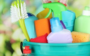 Set of cleaning materials