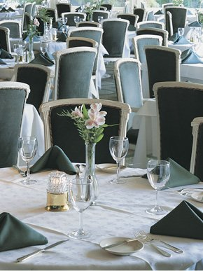 A photograph of table settings