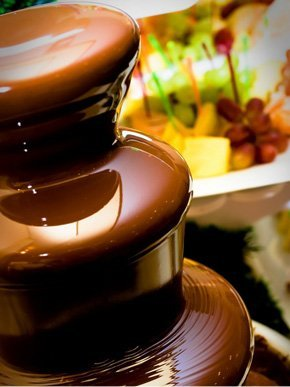 Photograph of a chocolate fountain