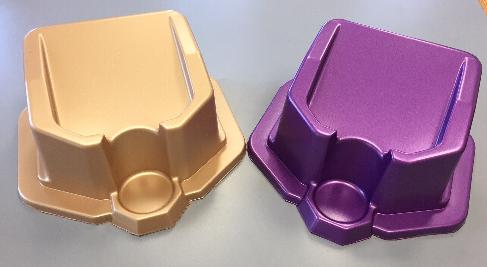 Gold and Purple Plastics