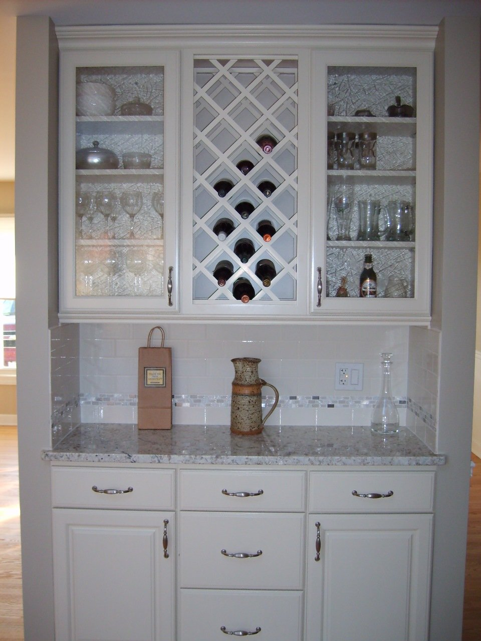 Wine and glass cabinet