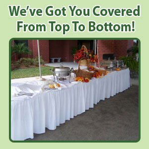 Table Linen Rental - Palatka, FL - Marie's Tables & Tents