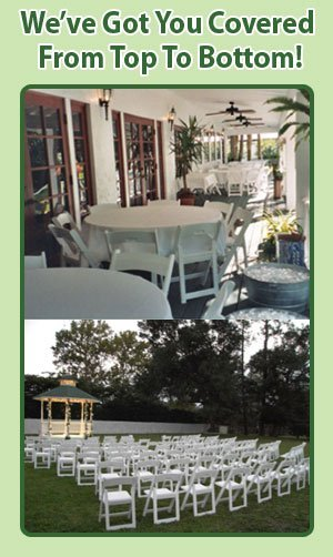 Chair Table Rentals - Palatka, FL - Marie's Tables & Tents